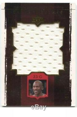 03/04 Ud Exquisite Michael Jordan Jumbo Game Used Jersey #21/75 Rare Try N Find