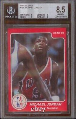 1984-85 Star Basketball Michael Jordan ROOKIE RC #195 BGS 8.5 RARE only 2 higher