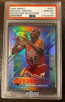 1994 MICHAEL JORDAN FINEST REFRACTOR #331 WithCoating PSA 10 GEM! Very Rare