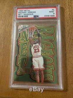 1996-97 Metal Net Rageous Michael Jordan, #5, Die Cut. PSA 9 MINT! SUPER RARE