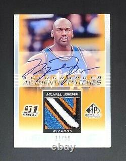 2003 Sp Game Used Michael Jordan Jersey Patch Auto on-card exquisite Rare! Mint
