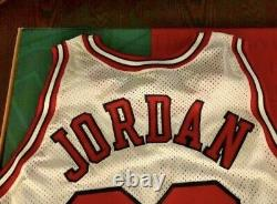 95-96 UD Authenticated Champion +3 Michael Jordan Signed RARE White Jersey
