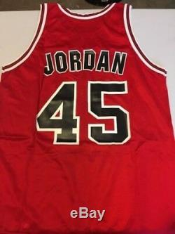 Authentic, Vintage with tag, Champion, Michael Jordan red 45. Rare