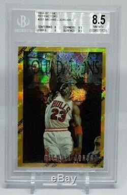 Michael Jordan 1996-97 Finest # 291 Gold Refractor BGS 8.5 NM-MT+ Extremely Rare