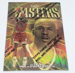 Michael Jordan 1997-98 Topps Finest Masters /289 Gold Refractor #154 MINT RARE