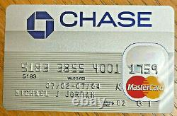 Michael Jordan 1/1 Used Personal Expired Chase Credit Card Very Rare