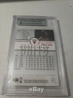 Michael Jordan 2005 06 Ud Reflections Red Ruby /100 Bgs 9 Rare