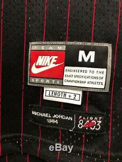 Nike flight 8403 Michael Jordan Authentic jersey size M blk/red pinstriped Rare