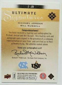 Rare! Michael Jordan Bill Russell 25 UD ULTIMATE COLLECTION SIGNATURES DUAL Auto