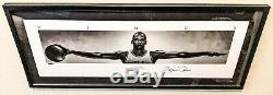 VERY RARE MICHAEL JORDAN Signed Wings 41x17 NIKE Framed Poster UDA LE /500